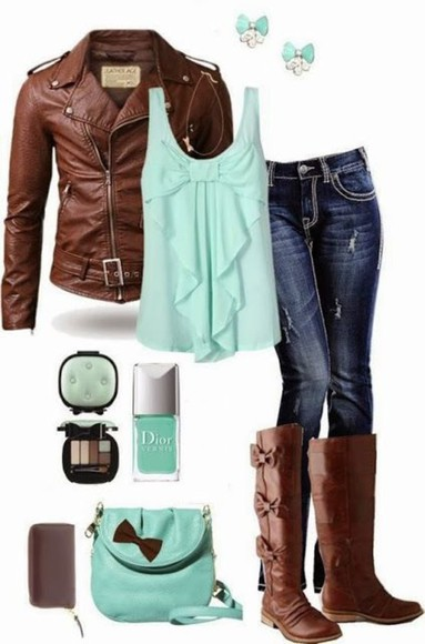 jacket fall outfits leather jacket brown