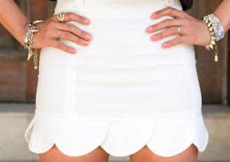 skirt white white skirt classy bracelets little skirt