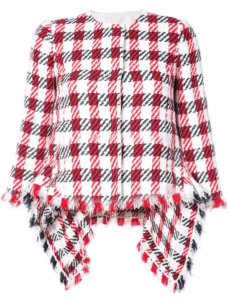 oscar de la renta jacket women white cotton