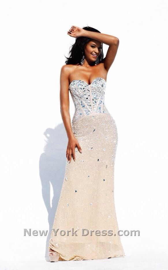 Sherri Hill JOVANI 1435 Sz 12 Nude Prom Pageant Gorgeous MSRP $1070 | eBay