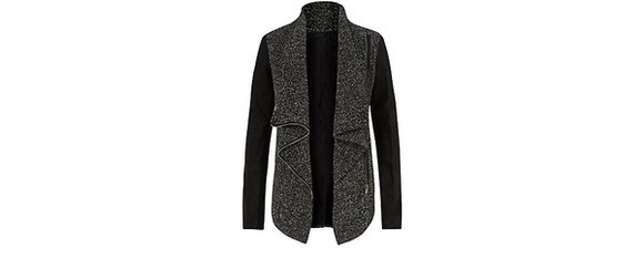 jacket perfecto grey clothes wool black and white