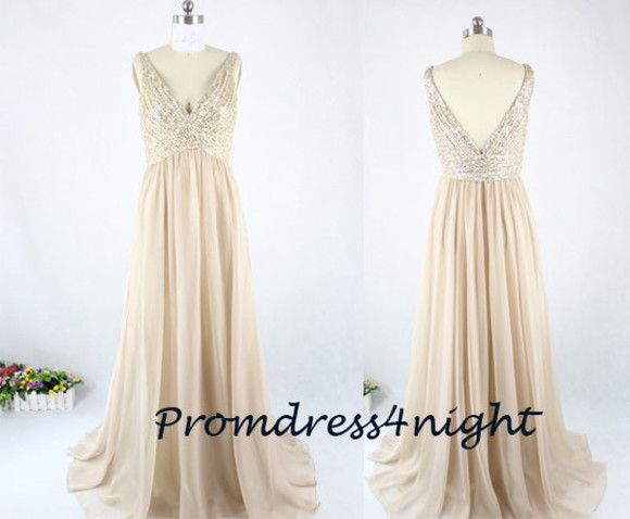 lace top dress sequins prom dress lace prom dress lace top formal dress champagne prom dress champagne party dress v back evening dress dress for wedding bridal party dress 2015 prom dress new style dress formal dress champagne formal dress long formal dress