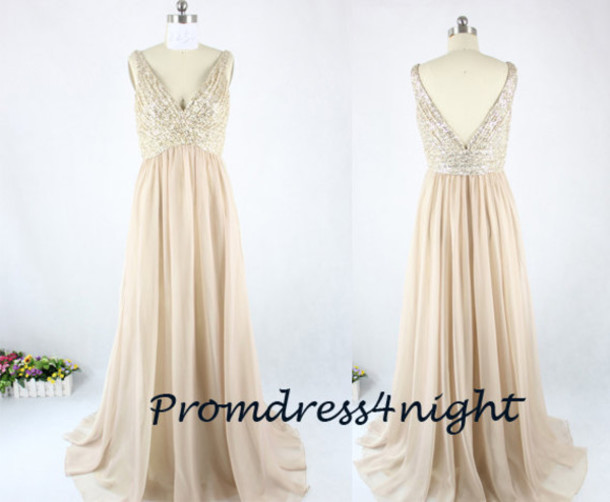 sequins prom dress, lace prom dress, lace top formal dress ...