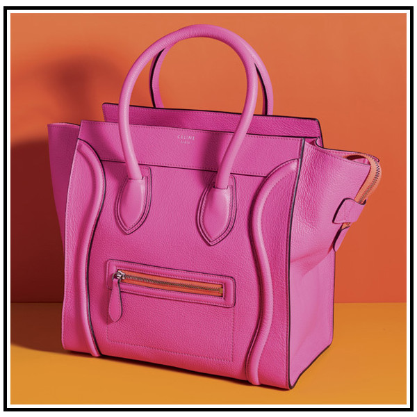Céline Luggage Tote in Hot Pink Express Yourself - Polyvore