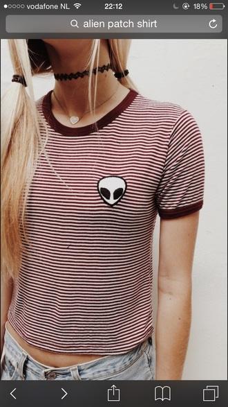 shirt alien grey t-shirt