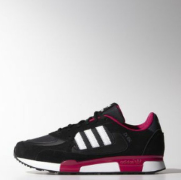shoes sneakers basket rose noiree noire adidas