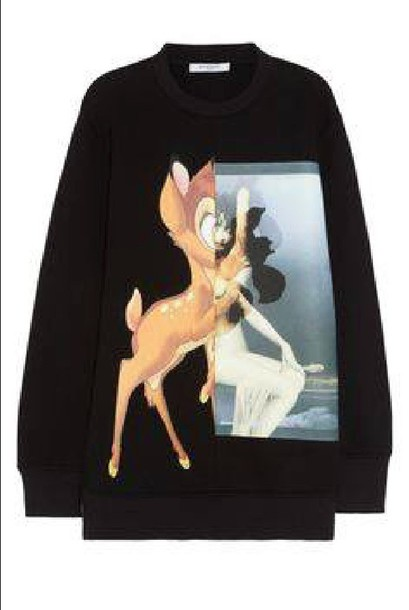 sweater bambi crewneck black