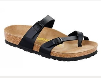 shoes two band buckles black birkenstocks sandles birkenstocks sandals black sandals birkenstock ltd edition