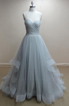 Powder Blue Tulle Gown