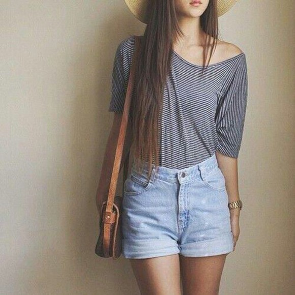 blouse striped shirt pullover