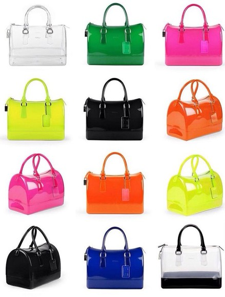 bag furla platic transparent  bag
