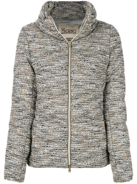 Herno jacket puffer jacket women cotton wool grey