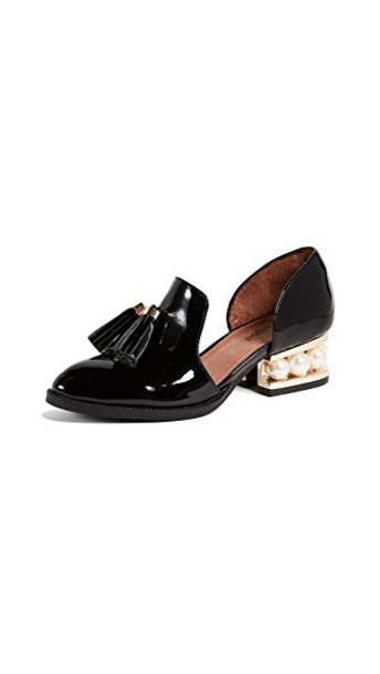 Jeffrey Campbell heel loafers black shoes