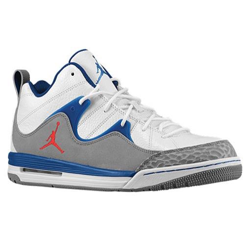 Jordan TR '97 - Men's - Basketball - Shoes - White/Cement Grey/True Blue/Fire Red