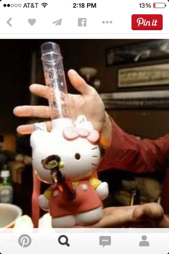 home accessory pipe hello kitty pink