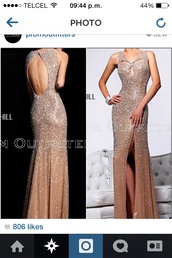 dress,prom dress,long prom dress,sexy prom dress,backless dress,prom dress shopping,sequin prom dress,floor lenght dress,sherri hill,taupe,ruched dress,mocha