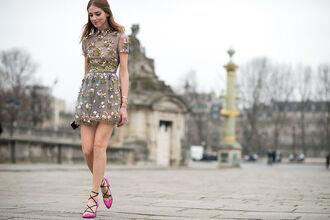 shoes clothes love cute lovely good pretty women cute dress girl girly wishlist lovely pepa embroidered dress embroidered couture dress