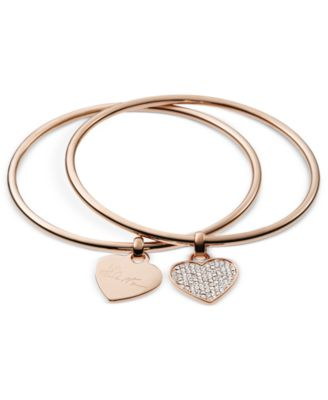 kate spade new york Bracelet, Gold-Tone Hinged Charm Bangle Bracelet - Fashion Jewelry - Jewelry & Watches - Macy's