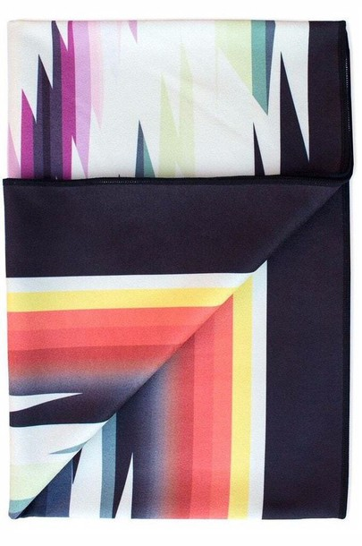 cce37c0ff73bb home accessory black microfiber towels print red beach towel vagabond goods  white yellow yoga towel bikiniluxe