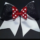 hair accessory,disney bow,cheerleading