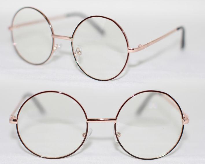 xxl nerd brille harry rund round metall klarglas geek. Black Bedroom Furniture Sets. Home Design Ideas