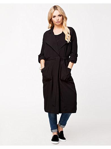 Fancy Long Trenchcoat - Vero Moda - Svart - Jackor - Kläder - Kvinna - Nelly.com