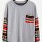 Multicolor drop shoulder tribal sleeve t-shirt -shein(sheinside)