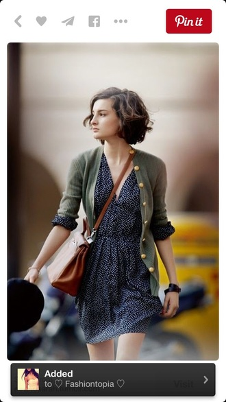 dress summer dress style navy cute dress cute tumblr outfit outfit fall outfits fashion sweater olive green