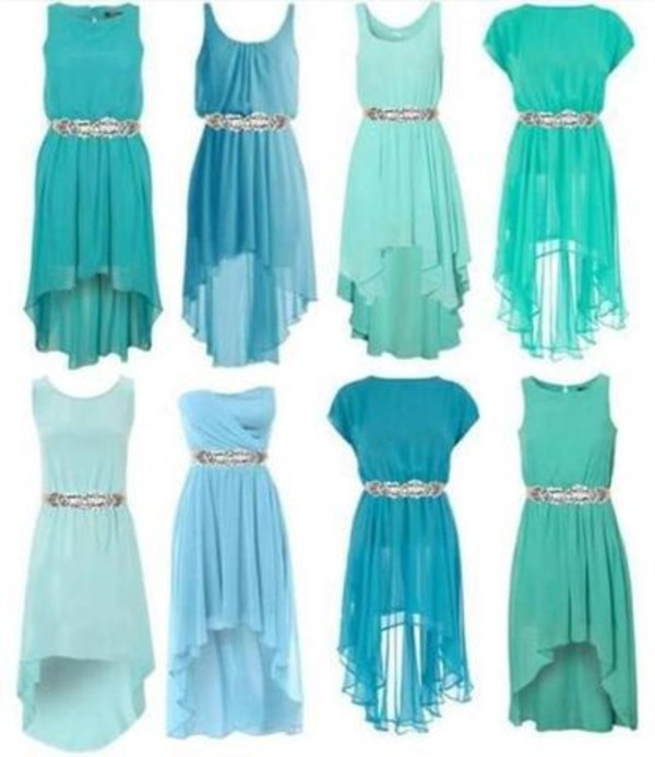 Dress: cute dress, blue prom dress, light blue, belt - Wheretoget