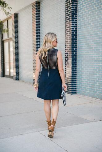 dress tumblr navy navy dress mini dress mesh dress mesh sandals sandal heels shoes