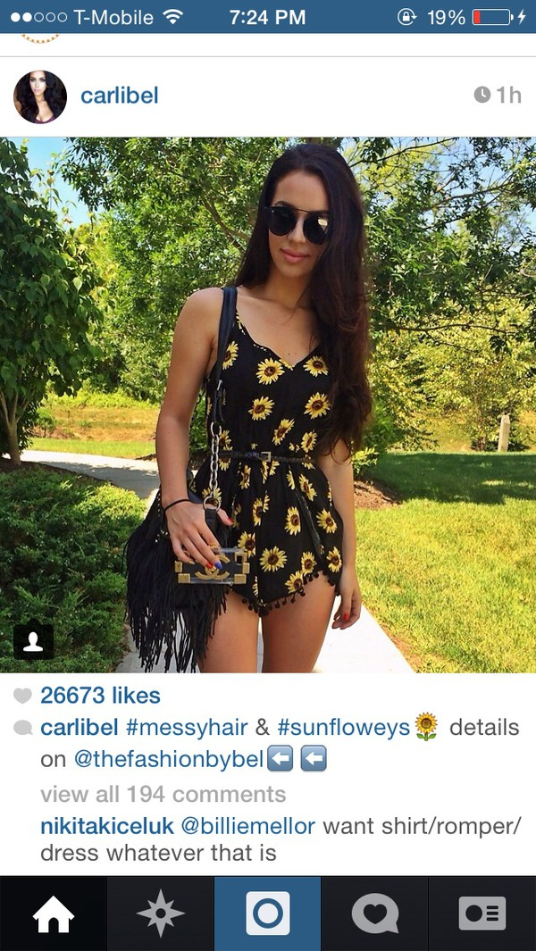 jumpsuit sunflower romper