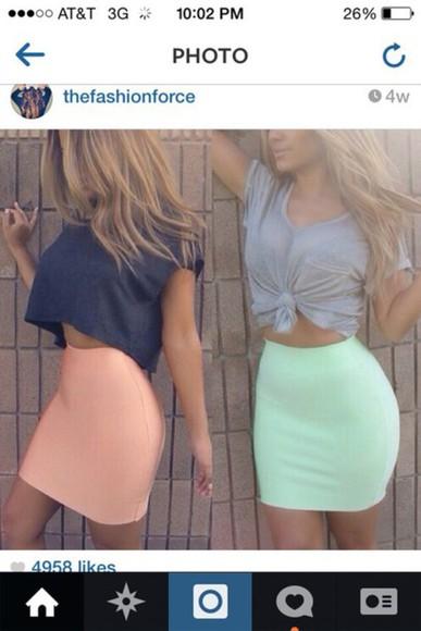 mini skirt skirt style fashion top
