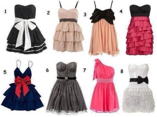 dress short dress cute pretty clothes tumblr prom
