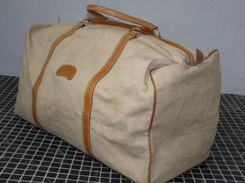 Bree Vintage weekender Reisetasche Tasche Ledertasche Canvas Leinen 80er TOP | eBay