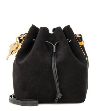bag bucket bag suede black
