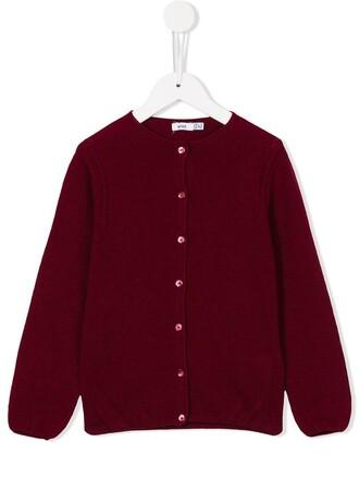 cardigan girl knit toddler red sweater