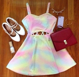 dress pastel color pastel goth open back dresses cute dress pastel dress light pink pale