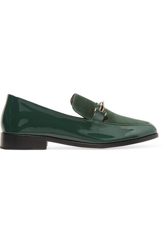 forest loafers leather suede green forest green shoes