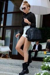 shorts,miley cyrus,bag,nail polish,skirt,shirt,celebrity style