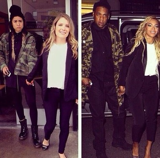 jacket jay z beyoncé military green jacket