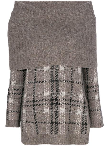 Max Mara Studio jumper women wool grey sweater