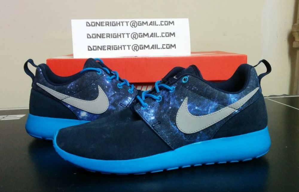 Nike Roshe Run Galaxy Space Stars GS Blue Navy Yeezy FB ...
