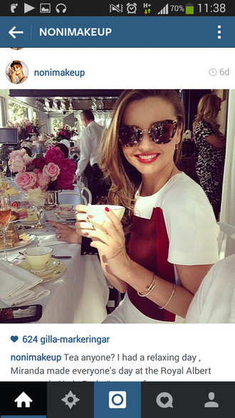 sunglasses miranda mirandakerr celebrity summer happy sun brown sunglasses
