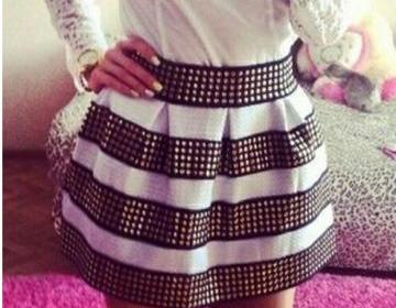 Cool white and black with rivet, ri..