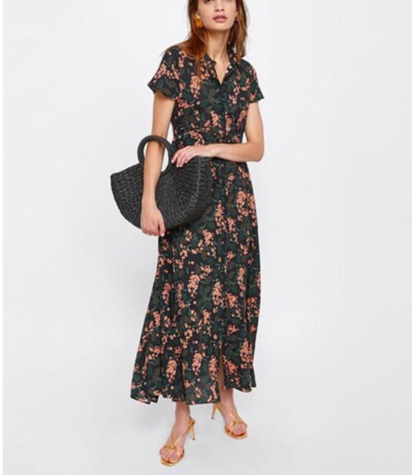 bfcd19a6c LONG FLORAL PRINT DRESS - DRESSES-WOMAN-SALE