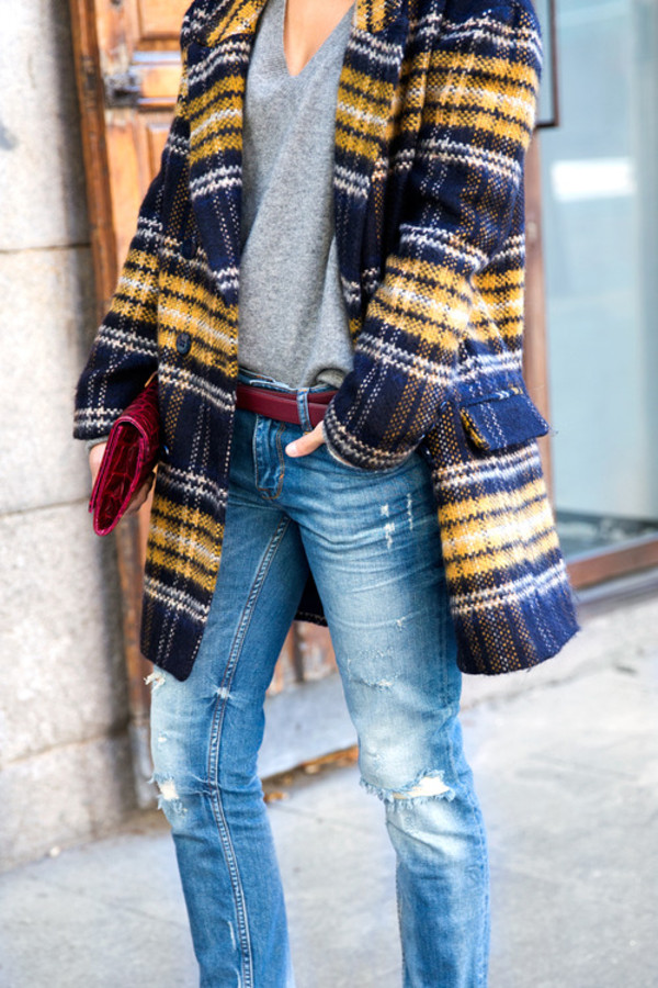 coat tumblr jacket fashion plaid