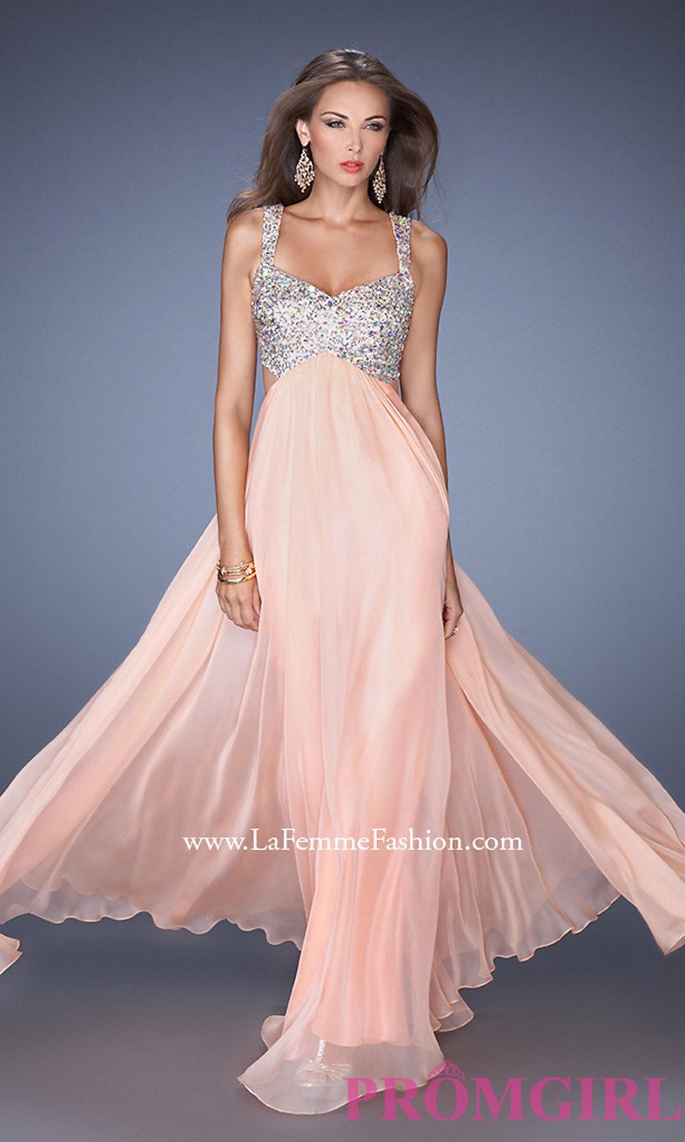 Floor Length La Femme Prom Dress 18989