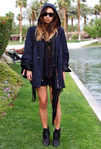 jacket blue parka navy parka winter outfits festival anarok rain jacket rumi neely