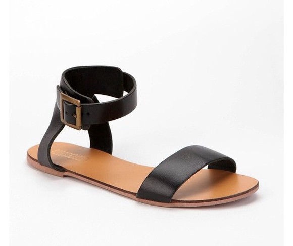 shoes sandals urban outfitters doublestrap blacksandals modernsandals modern simplebutcute
