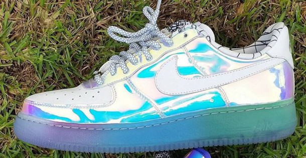 d5b29f969a5e shoes holographic nike sneakers airforces nike air force 1 nike nike shoes  nike air sneakers bright